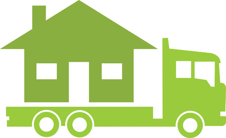Truck and House Vector
