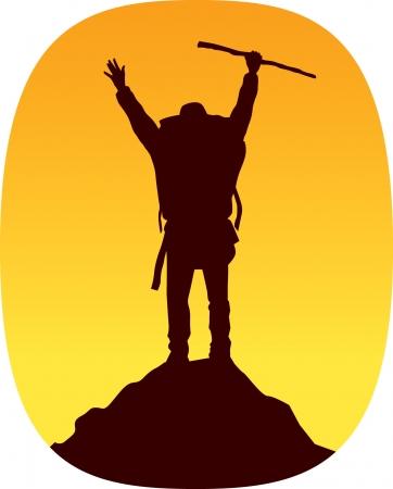 Climbing Victory Illustration