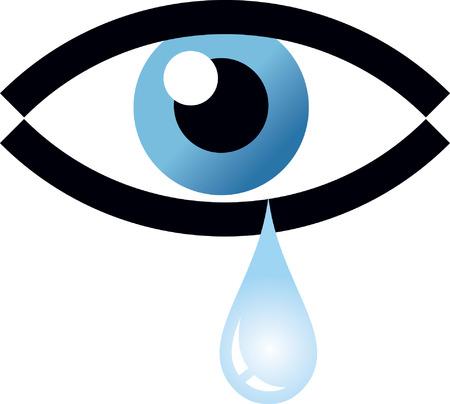 Eye tear Vector