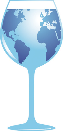 World Glass Vector