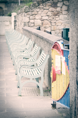 promenade: Row of Empty Promenade Benches