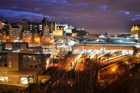 waverley: Evening View of Edinburgh