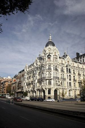 Street, intersection in madrid photo