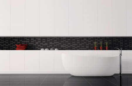 bathroom interior 3d render Stock Photo - 6895224