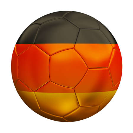 Soccer ball with germany flag isolated 3d render photo