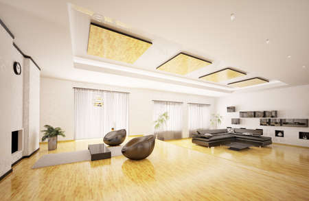 Home interior of modern apartment 3d render Stock Photo - 9020849