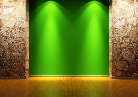 concrete room: Empty room interior 3d render