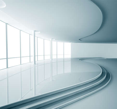 modern interior architecture: Abstract empty modern interior 3d render Stock Photo