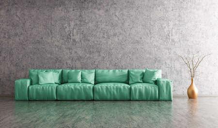 Modern Interieur Van Woonkamer Met Witte Sofa, Levendige Kussens En ...