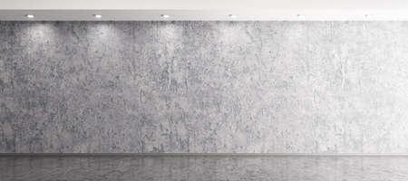 Intérieur arrière-plan de la pièce avec le ciment en béton et le revêtement de sol 3d Banque d'images