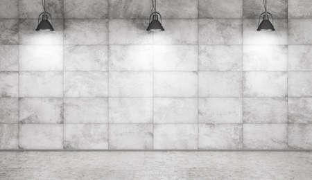 Beton Floor copper ls concrete wall room interior background 3d