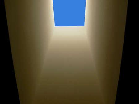 Looking upwards through a residential ceiling skylight Reklamní fotografie - 706026