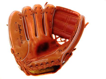 Childs Lefty Baseball Glove On White Background Reklamní fotografie