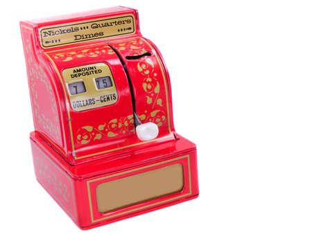 1950s era childs metal toy cash register photo