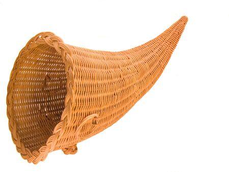 Wicker Basket in the shape of the Horn Of Plenty, or Cornucopia Reklamní fotografie - 817558