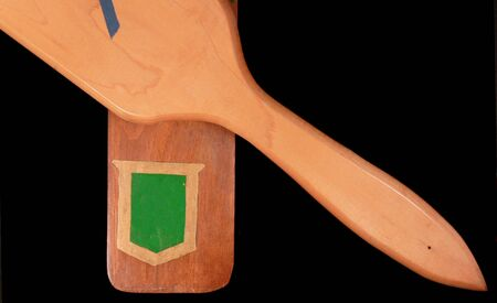 Fraternity and sorority paddles from the 1970s 版權商用圖片