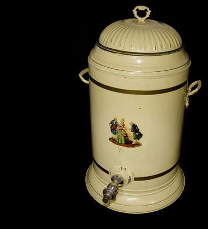 Early 20th century enameled coffee urn