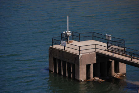 Reservoir Water Outflow Tower Banco de Imagens