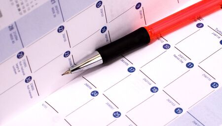 Personal pocket calendar with mechanical pencil
