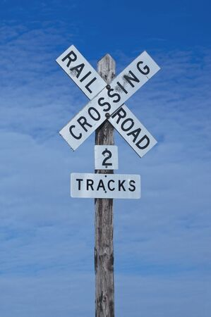 Railroad Track Crossing Sign