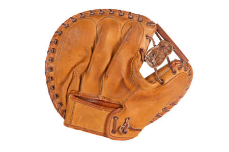 1960s era catchers mitt. Reklamní fotografie - 11626525