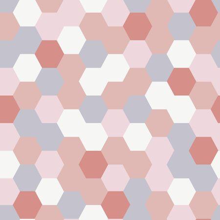 Random Hexagonal Soft Pink Pastel Seamless Repeat Background Pattern