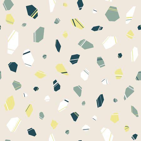 Terrazzo Stones Seamless Repeat Pattern Background Ilustracja