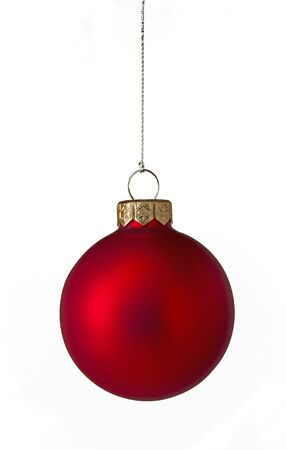 Single red Christmas bauble Stock Photo - 8397266