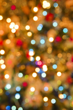 Christmas light blur background Stock Photo - 9141561