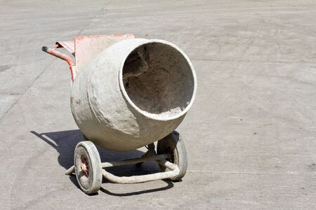 Old cement mixer Stock Photo