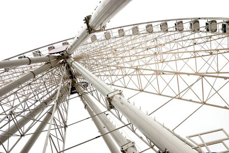 White ferris wheel Stock Photo - 9781061