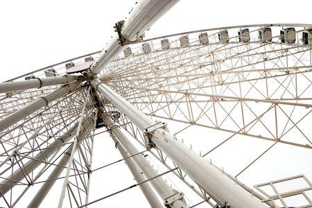 White ferris wheel Stock Photo - 9781061