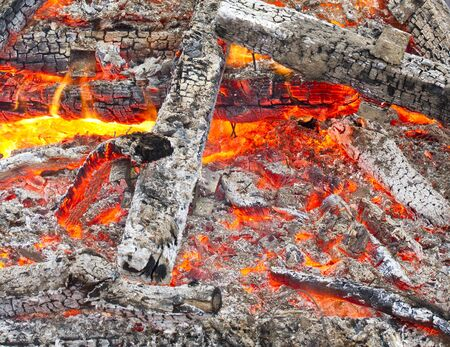 Close up image of wood fire
