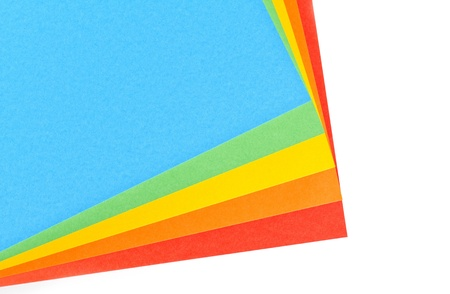 Assorted sheets of color paper