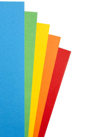 a4 background: Five sheets of colored card