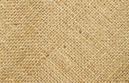 Close up image of  hessian sack photo