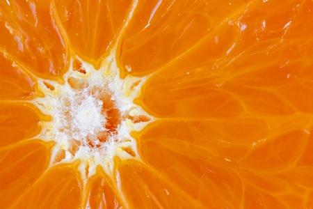 Close up image of fresh juicy orange photo