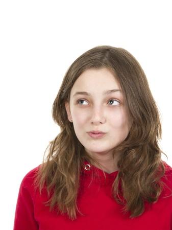 Pre teen young girl posing photo