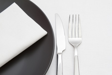 Czarno-białe nakrycie Zdjęcie Seryjne