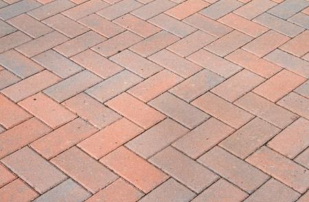 road paving: Red block pavior driveway