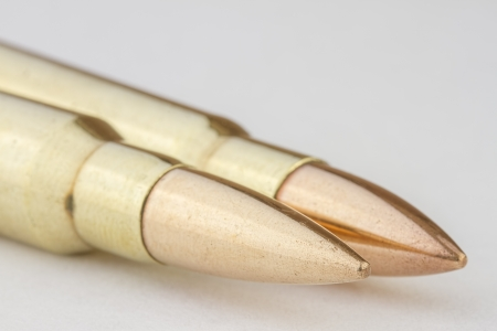 Two bullets with shallow depth of field
