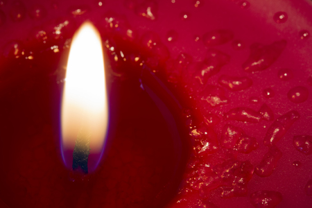 Close up red candle photo