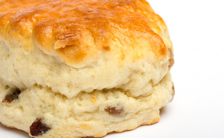 Close up image of a fruit scone Stock Photo