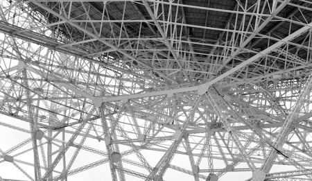 radio telescope: Steel lattice work on radio telescope