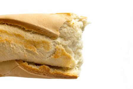 Close up image of crusty baguette Stock Photo