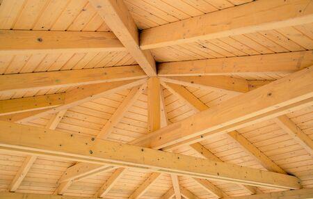 Interni travi su una struttura in legno