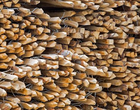 pales: Piles of split chestnut paling