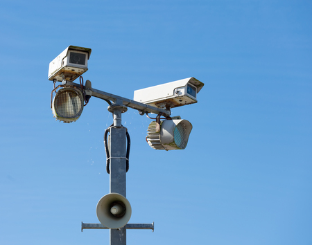Security cameras with infra-red lights