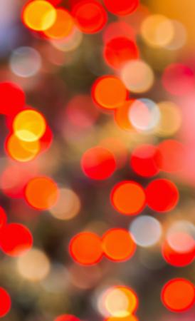 defocussed: Red and orange defocussed lights
