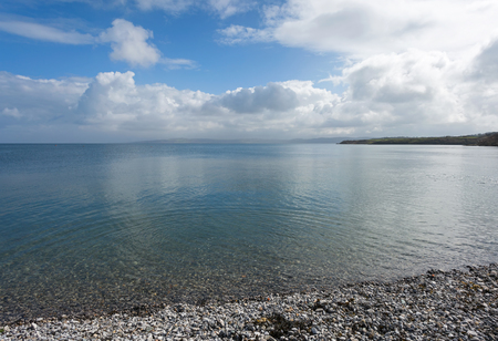 Clear blue sea at Moelfre, Anglesey, North Wales